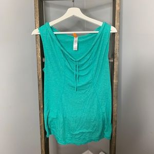 Lucy Activewear Green Hooded Sleeveless Top